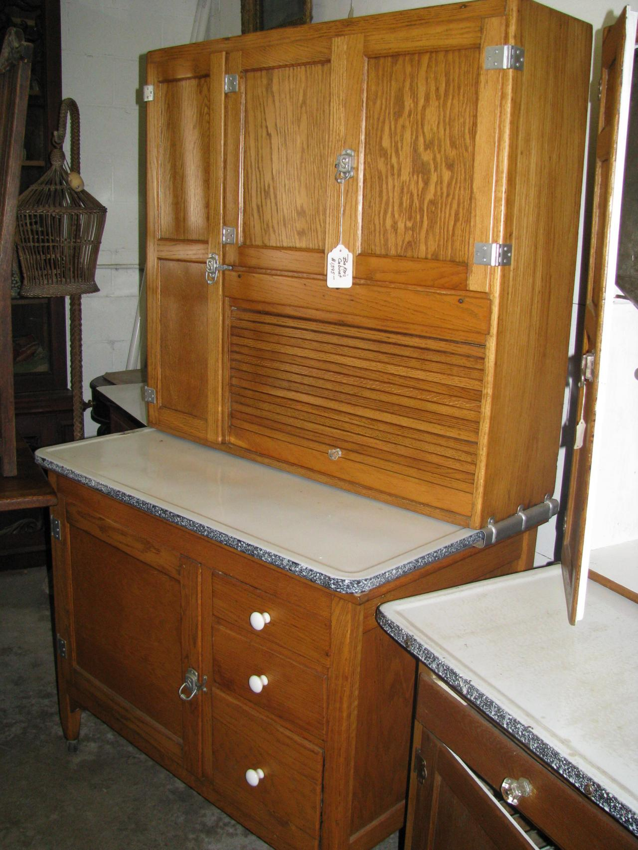 ... Sellers Oak Bakers Cabinet Circa 1916-1920 ... - Z's Antiques & Restorations - Hoosier/Baker's Cabinets Including Yet