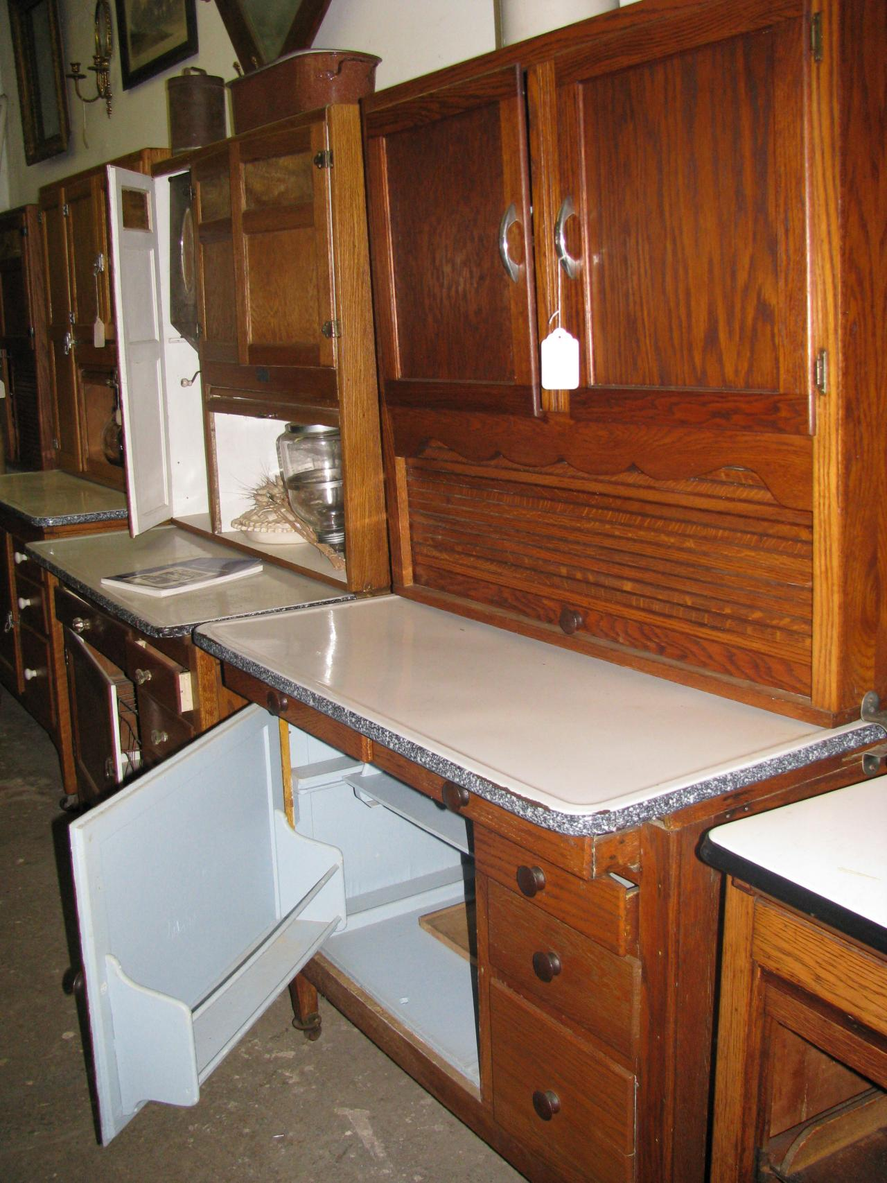... Hoosier Bakers Kitchen Cabinet Circa 1917-1920 ... - Z's Antiques & Restorations - Hoosier/Baker's Cabinets Including Yet