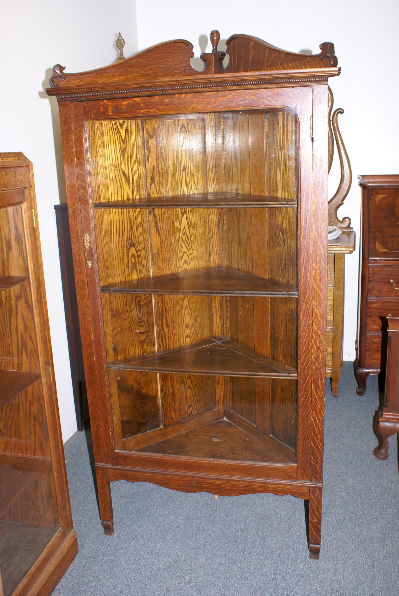 ... Oak Corner Cabinet C1910 ... - Z's Antiques & Restorations - Photo Gallery